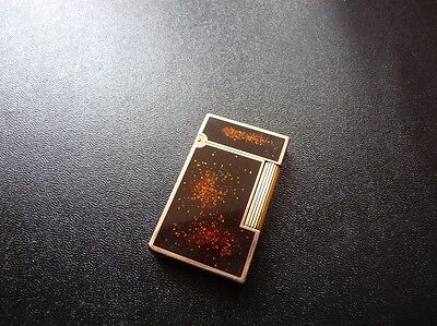 S T Dupont Line 2 Large Laque de Chine and Rose Gold Plated Lighter