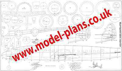 KYOSHO LOCKHEED CONSTALATION classic control line scale plans