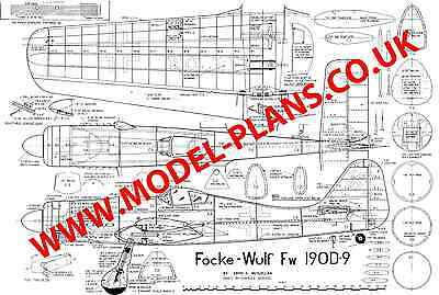 FOCKE WOULF 190D-9 classic control line stunt plans