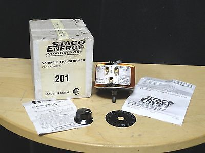 STACO ENERGY PRODUCT ~ Variable Transformer ~ P/N 201 ~ 2 AMP, 120Volts ~ NEW