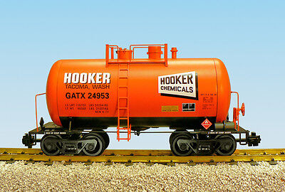 USA Trains G Scale Beer Can Tank Car R15206  Hooker Chemicals - Orange, Black