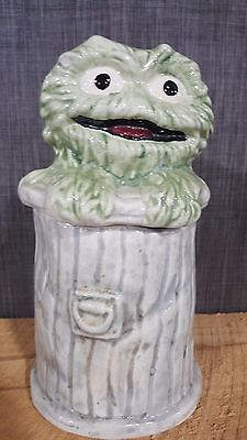 Rare Sesame Street OSCAR THE GROUCH COOKIE JAR