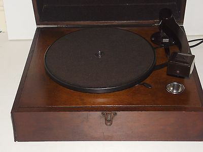 RARE HMV 1930's Electric Gramophone Record Player with BAKLITE TONE ARM & SHELL