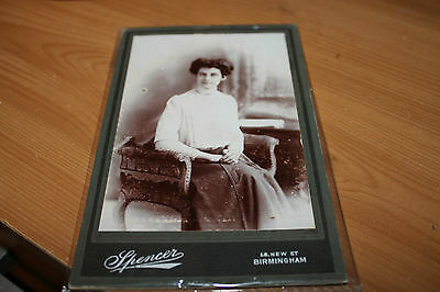 Real People Postcard (Black & White) Lady Sitting 1920's? (Spencer)