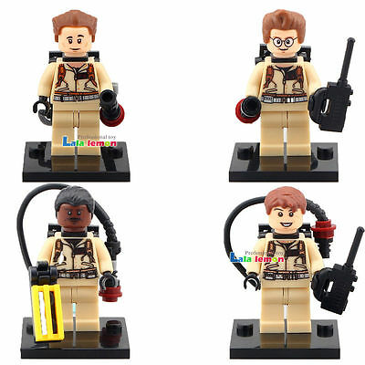 4pcs Ghostbusters Dr. Raymond Dr. Peter Winston Egon DIY Minifigures Gifts Toys
