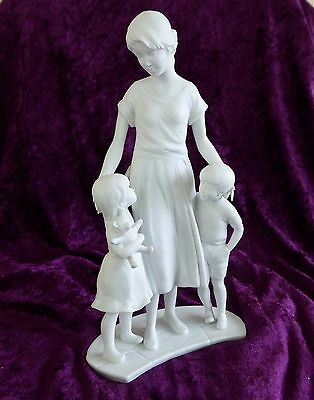 Kaiser Porcelain - Mother and Children Standing - Impressed 18 and 808 - Signed