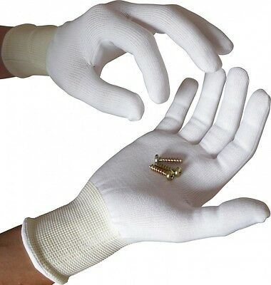 UCI STP 13 - White Close Fitting Knitted Polyester Inspection Gloves