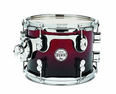 PDP Concept Maple Tom Drum PDCM0810STRB Red to Black Fade 8x10