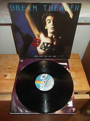 "Dream Theater ‎""When Dream And Day Unite"" LP MECHANIC GERMANY 1989 - INNER"