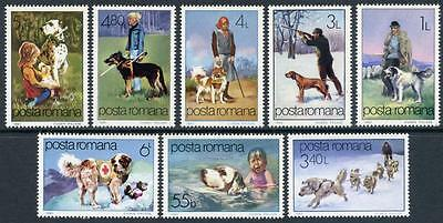 Romania: With the Help of Dogs (3060-3067) MNH