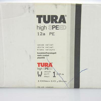 Tura high speed 12a PE # 100 Meter x 10,8cmm altes Fotopaier / photo paper Rolle