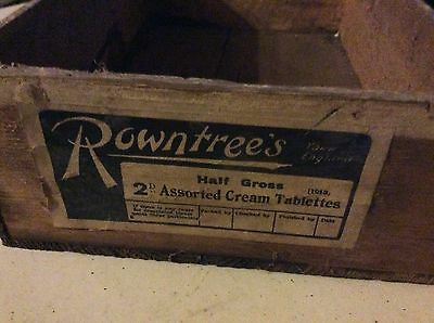 Rowntrees Shop Display Chocolate Box - Assorted cream tablettes very old 1913