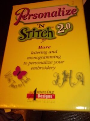 Personalize N Stitch 2.0 Embroidery Lettering Software Monograms Names Stitches