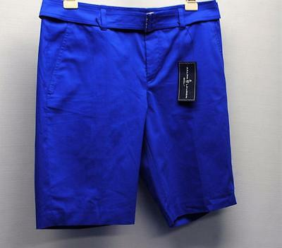 NWT Ladies SIZE 6 Ralph Lauren Polo Honor Dark Blue Cotton Polyester golf shorts