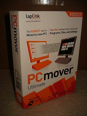 LAPLINK PCmover Ultimate with SafeErase - Windows 10, 8, 7, Vista and XP - NEW