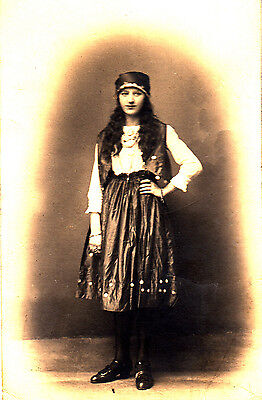 BG34.Vintage Postcard.Photo of girl in a gypsy outfit.