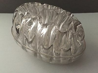 Davidson Clear Glass Flower Dome Frog 8 x 5 x 4 1/2 in. ENGLAND 1910 Patent 7830