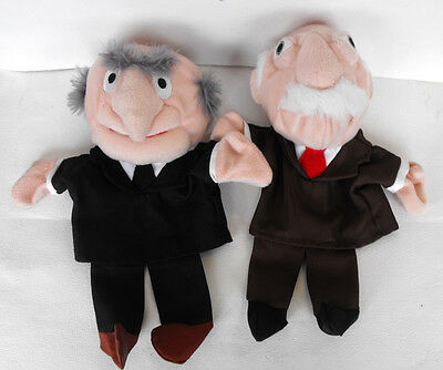 RARE Disney MUPPETS Statler and Waldorf Hand Puppets MINT Europe Last ones !!!!