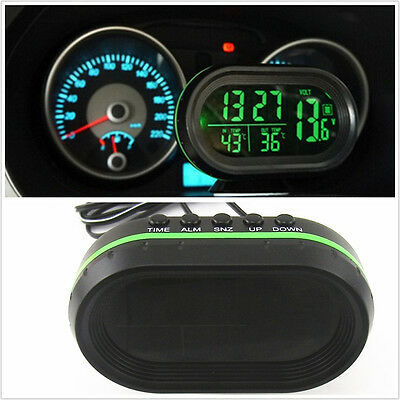 Green LED Backlight Autos Inside Outside Sensor Thermometer LCD Digital Display