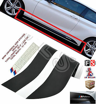 Bmw 3 Series F30 F31  M Performance Side Stickers Skirts Decals Vinyl Graphics
