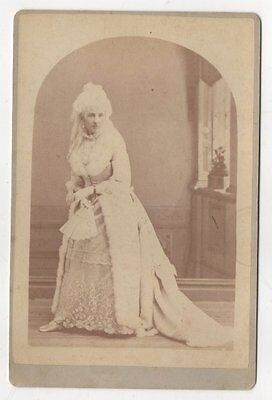 Cabinet Photo: Woman with White Hair, Actress? Photographer Oakland, Calif 1870s