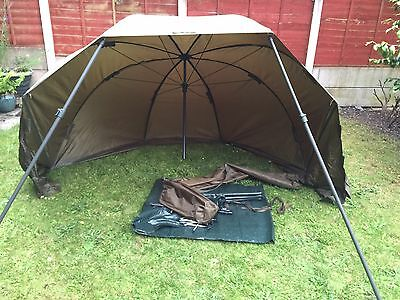 "New JRC Oval Brolly Umbrella 60"" Inch Carp Fishing With Nash 48"" Storm Poles"