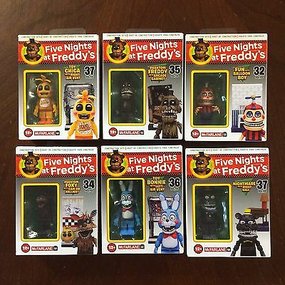 Complete Set Of 6 - McFarlane Five Nights At Freddy's - Wave 2 Construction Sets