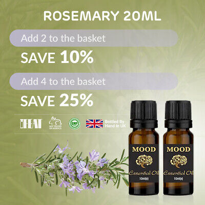 Essential Oil Pure Oils 20ml Natural Aromatherapy Rosemary Organic Fragrances