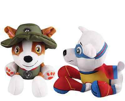 """Plush Pup Pals 8"""" Paw Patrol Jungle Rescue Tracker Soft Toys Nickelodeon Dog"""