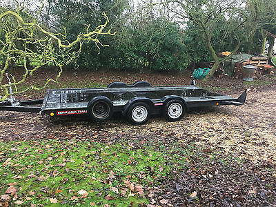 """Brian James A Max Car Transporter Trailer 2600Kg 14'x6'4"""" Pull Out Ramps No Vat"""