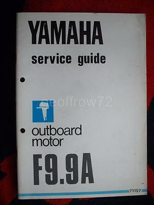 Yamaha Outboard Service Guide Manual 1984 F9.9A 4-STROKE (71157) 9.9 A F 9.9 A