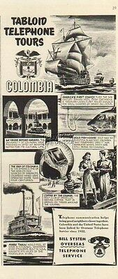 1942 Bell Telephone COLUMBIA vintage 1940's phone Ad