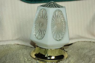 Vintage Underwriters Laboratories Inc. Clear/Frosted Glass Ceiling Light Fixture