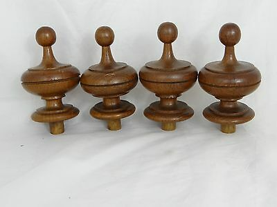 4 french wood curtain finial end rod furniture bed architectur salvage pediment