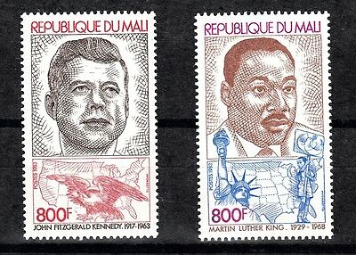 Mali Sc# 468-469 Us President J.f.kennedy & Martin Luther King - Mnh