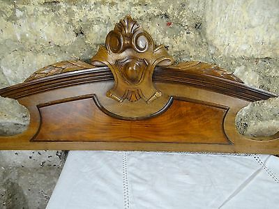 "40 "" Beautiful  Antique French Hand Carved Pediment 19 th - Walnut"