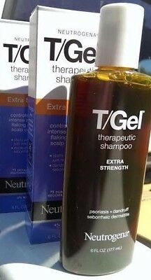 2 Neutrogena T-Gel Therapeutic Shampoo Extra Strength 2 bottles