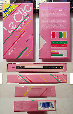 Le Clic Black VHS: Pink Video Tapes: T120: Brand New Sealed rare