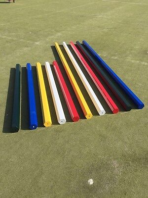 2 X Hexagonal Ally Show Jump Poles 1.8m Made To Last And Fast Dispatch