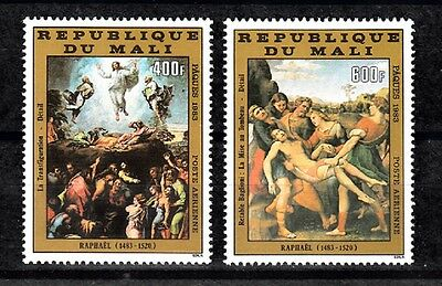 Mali Sc# C475-C476 Raphael Paintings: Easter 1983