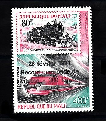 Mali Sc# C425 Train World Speed Record 380 Km/hr 1981  Mnh
