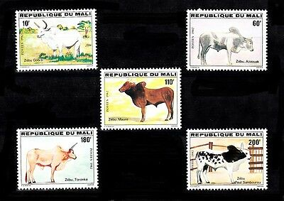 Mali Sc# 460-464 Animals Mnh