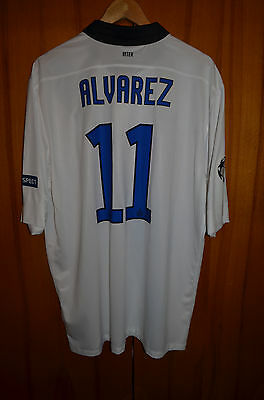 Inter Milan Internazionale 2011/2012 Champions League Football Shirt #11 Alvarez
