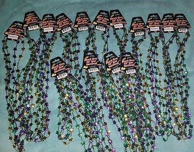 45 Mardi Gras Beads Necklaces Party Favors Motorcycle Bike Rally Bead Birthday
