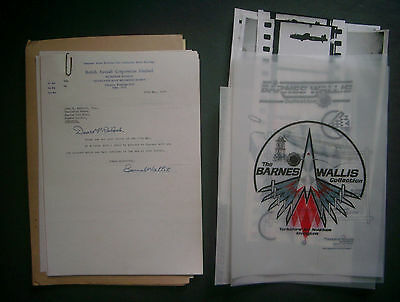 Barnes Wallis Signed Letters - Exhibition Bouncing Bomb Dambusters World War