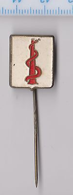 Vintage metal Aesculapius pin badge Medicine Doctor 1960s