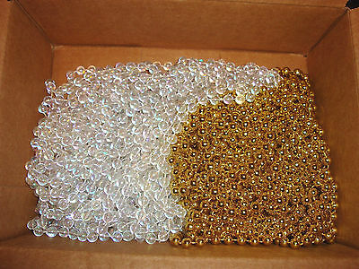 Gold and Clear Bead Garland (95 ft)