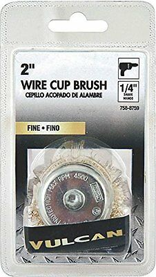 """Vulcan 321151or Wire Cup Brush, 2"""" Fine, 1/4"""" Shank"""