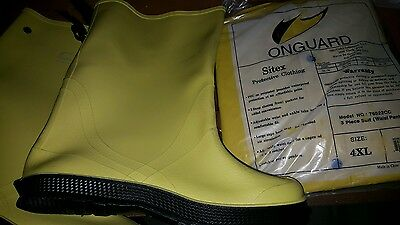 Brand New Onguard Rain Work Boots and Rain 3 Piece Suit
