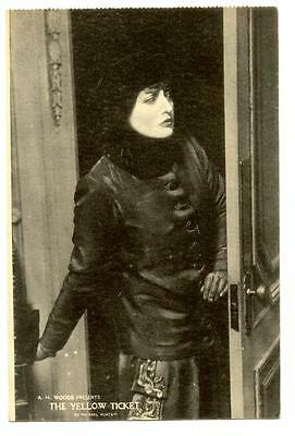 1914 Postcard FLORENCE REED in THE YELLOW TICKET by Michael Morton